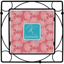 Coral & Teal Square Trivet (Personalized)