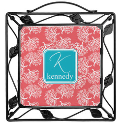 Coral & Teal Trivet (Personalized)
