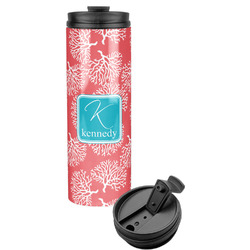 Coral & Teal Stainless Steel Tumbler (Personalized)
