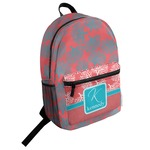 Coral & Teal Student Backpack (Personalized)