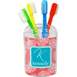 Coral & Teal Toothbrush Holder (Personalized)