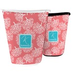Coral & Teal Waste Basket (Personalized)