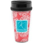 Coral & Teal Travel Mug (Personalized)