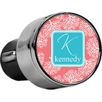 Coral & Teal USB Car Charger (Personalized)