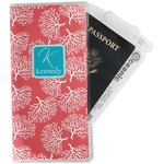 Coral & Teal Travel Document Holder