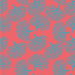 Coral & Teal Wallpaper & Surface Covering