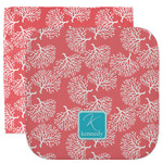 Coral & Teal Facecloth / Wash Cloth (Personalized)