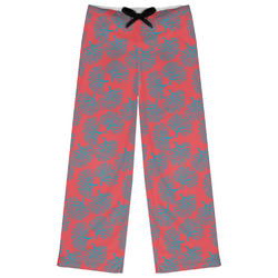 Coral & Teal Womens Pajama Pants (Personalized)