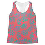 Coral & Teal Womens Racerback Tank Top (Personalized)