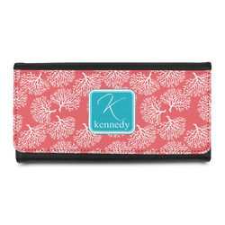Coral & Teal Leatherette Ladies Wallet (Personalized)