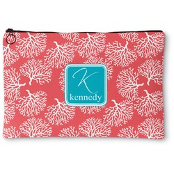 Coral & Teal Zipper Pouch (Personalized)