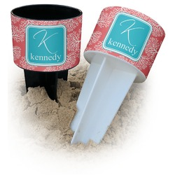 Coral & Teal Beach Spiker Drink Holder (Personalized)