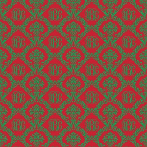 Monogrammed Christmas Damask