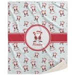 Santa Claus Sherpa Throw Blanket (Personalized)