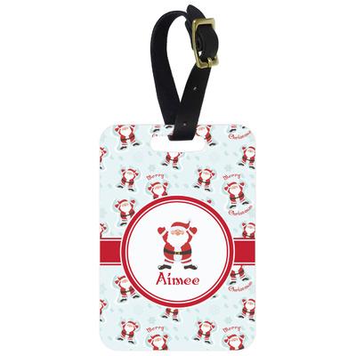 Santa Claus Metal Luggage Tag w/ Name or Text