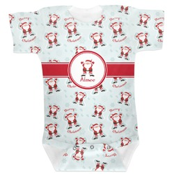 Santa Clause Making Snow Angels Baby Bodysuit (Personalized)