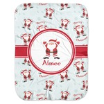 Santa Clause Making Snow Angels Baby Swaddling Blanket w/ Name or Text