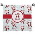 Santa Claus Full Print Bath Towel (Personalized)