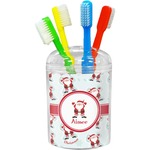 Santa Clause Making Snow Angels Toothbrush Holder (Personalized)