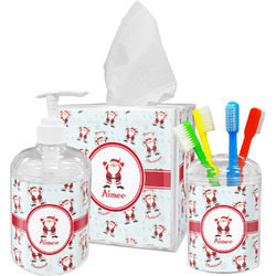 Santa Claus Bathroom Accessories Set (Personalized)