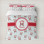 Santa Clause Making Snow Angels Duvet Cover (Personalized)