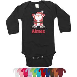 Santa Claus Bodysuit - Black (Personalized)
