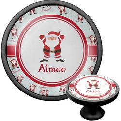 Santa Claus Cabinet Knob (Black) (Personalized)