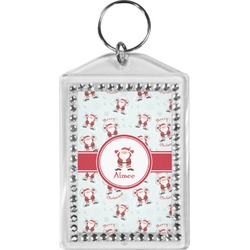 Santa Claus Bling Keychain (Personalized)