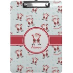 Santa Clause Making Snow Angels Clipboard (Personalized)