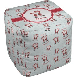 """Santa Claus Cube Pouf Ottoman - 18"""" (Personalized)"""