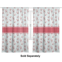 "Santa Claus Curtains - 40""x63"" Panels - Lined (2 Panels Per Set) (Personalized)"