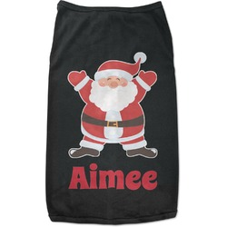Santa Claus Black Pet Shirt - 2XL (Personalized)
