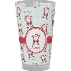 Santa Claus Drinking / Pint Glass (Personalized)