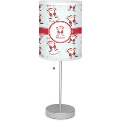 """Santa Claus 7"""" Drum Lamp with Shade Linen (Personalized)"""
