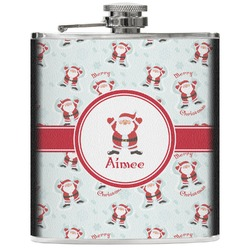 Santa Claus Genuine Leather Flask (Personalized)