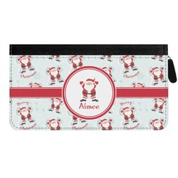 Santa Claus Genuine Leather Ladies Zippered Wallet (Personalized)