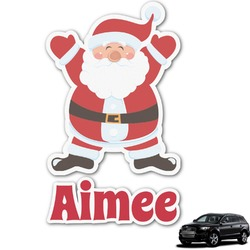 Santa Claus Graphic Car Decal (Personalized)