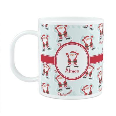 Santa Clause Making Snow Angels Plastic Kids Mug (Personalized)