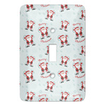 Santa Clause Making Snow Angels Light Switch Covers (Personalized)