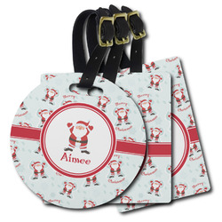 Santa Claus Plastic Luggage Tags (Personalized)