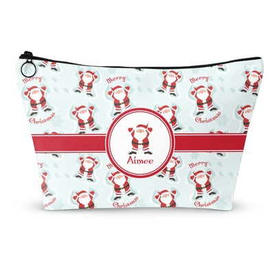Santa Clause Making Snow Angels Makeup Bags (Personalized)