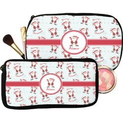 Santa Clause Making Snow Angels Makeup / Cosmetic Bag (Personalized)