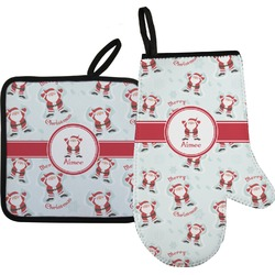 Santa Claus Oven Mitt & Pot Holder (Personalized)