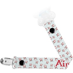 Santa Clause Making Snow Angels Pacifier Clips (Personalized)
