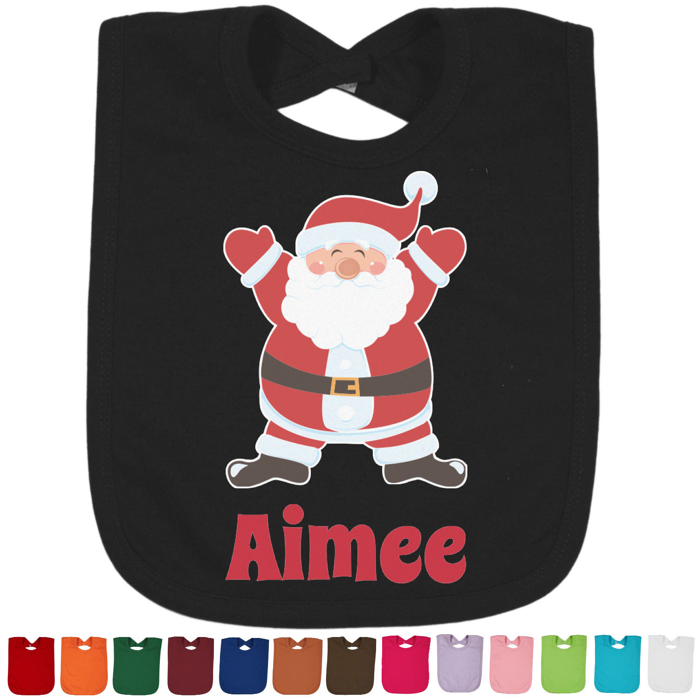 Santa claus bib black personalized youcustomizeit
