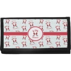 Santa Claus Canvas Checkbook Cover (Personalized)