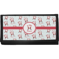 Santa Claus Canvas Checkbook Cover (Personalized)