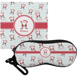 Santa Claus Eyeglass Case & Cloth (Personalized)