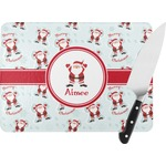 Santa Claus Rectangular Glass Cutting Board (Personalized)