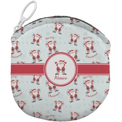 Santa Claus Round Coin Purse (Personalized)